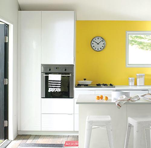 Cool vous retrouverez plusieurs nuances de jaune prsentes - Cuisine mur vert pomme ...