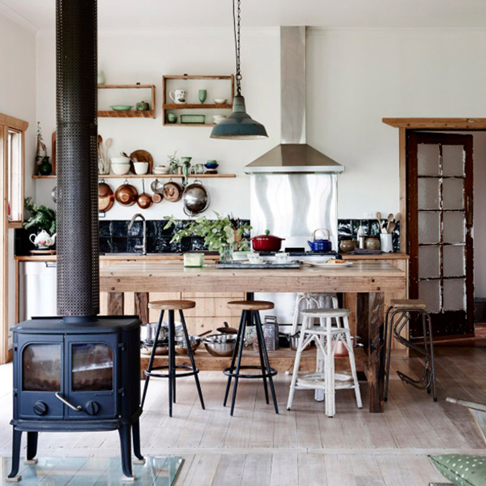 une cuisine de style campagnard facile recr er r cup ration d coration blogue pratico. Black Bedroom Furniture Sets. Home Design Ideas