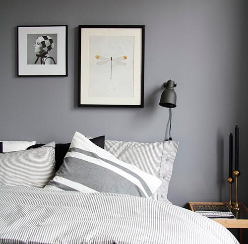 Chambre a coucher noir et gris design de maison for Chambre noir et gris