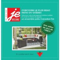 Concours: le plus beau patio du Québec