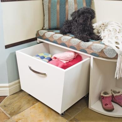 Fabriquer un meuble de rangement pour le hall plans et patrons d coration et r novation - Fabriquer un meuble de rangement ...