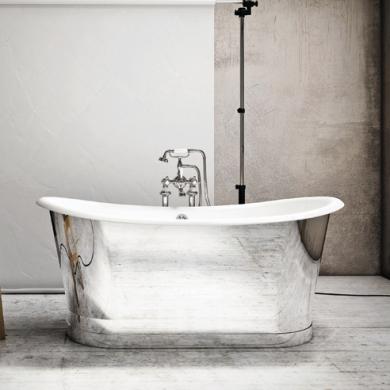 Accessoires d co touche m tallique pour la salle de bain for Baignoire metallique