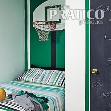 Chambre pour gar on sportif chambre avant apr s d coration et r novatio - Deco basketball chambre ...