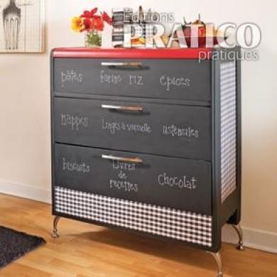 transformer une commode en buffet cuisine avant apr s. Black Bedroom Furniture Sets. Home Design Ideas