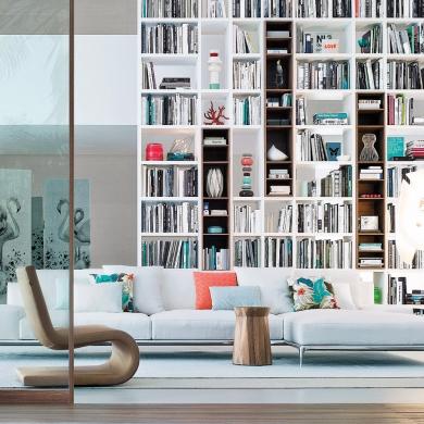 biblioth que murale int gr e salon inspirations. Black Bedroom Furniture Sets. Home Design Ideas