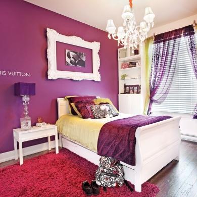 Chambre glamour tout en violet chambre inspirations - Chambre a coucher violet ...