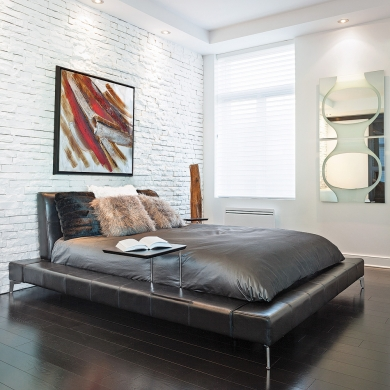 Chambre minimaliste au style contemporain chambre for Oui non minimaliste