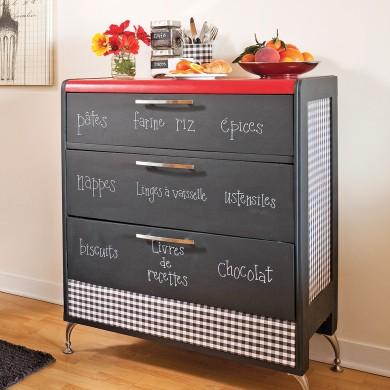 comment recouvrir un meuble avec du tissus en tapes d coration et r novation pratico pratique. Black Bedroom Furniture Sets. Home Design Ideas