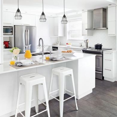 Cuisine blanche minimaliste cuisine inspirations for Oui non minimaliste