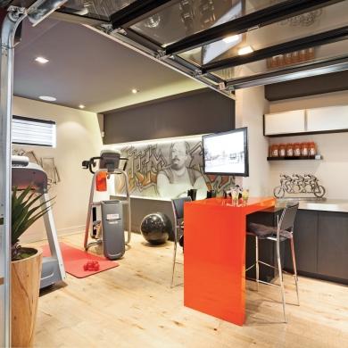 culture physique au sous sol sous sol inspirations d coration et r novation pratico pratique. Black Bedroom Furniture Sets. Home Design Ideas