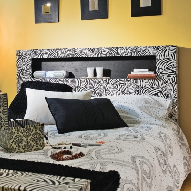 fabriquer un lit z br de la t te au pied en tapes. Black Bedroom Furniture Sets. Home Design Ideas