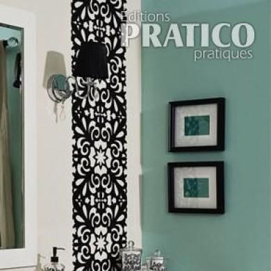 fabriquer un miroir pour la salle de bain en tapes. Black Bedroom Furniture Sets. Home Design Ideas