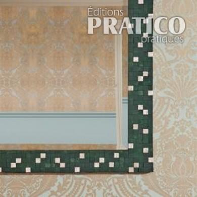 faire un cadre en mosa que pour un miroir en tapes. Black Bedroom Furniture Sets. Home Design Ideas