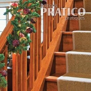d corer la rampe d 39 escalier pour no l inspirations d coration et r novation pratico pratique. Black Bedroom Furniture Sets. Home Design Ideas