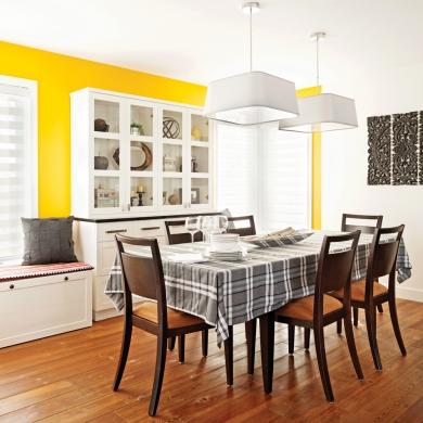 Jaune tonique pour la salle manger salle manger for Salle a manger jaune