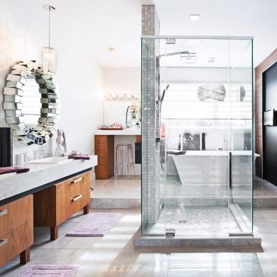 D coration salle de bain avec douche d co sphair for Deco salle de bain avec douche