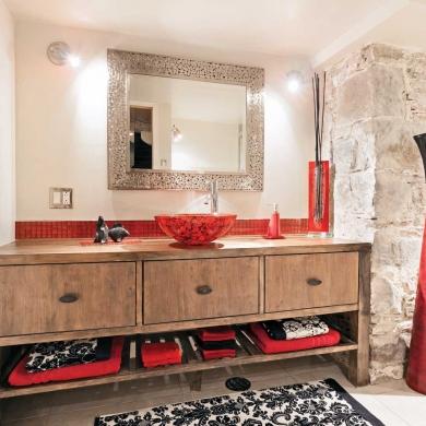 M lange rustico urbain pour la salle de bain salle de for Salle de bain style urbain