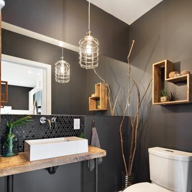 Mobilier en mode recycl pour la salle de bain salle de for Mobilier pour salle de bain