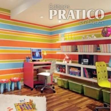 peindre un mur ray en tapes d coration et r novation pratico pratique. Black Bedroom Furniture Sets. Home Design Ideas