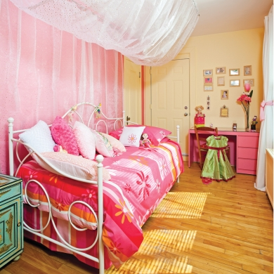 petite chambre de fille chambre avant apr s d coration et r novation pratico pratique. Black Bedroom Furniture Sets. Home Design Ideas
