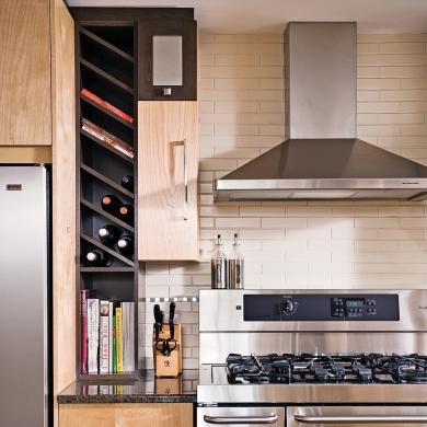 Rangement la verticale dans la cuisine cuisine for Rangement dans la cuisine