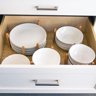 Rangement ajustable pour la vaisselle cuisine for Rangement vaisselle cuisine