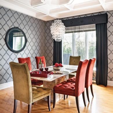 salle manger chic et glamour salle manger avant apr s d coration et r novation. Black Bedroom Furniture Sets. Home Design Ideas