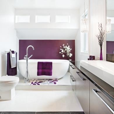 Salle de bain intime et raffin e salle de bain - Je decore salle de bain ...