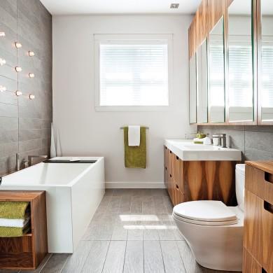 Salle de bain sereine et d pouill e salle de bain for Salle de bain pratique