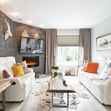 Salon clectique et chaleureux salon inspirations - Decoration salon chaleureux ...