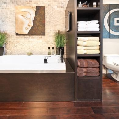 Un meuble double fonction pour la salle de bain salle de bain inspiration - Meuble double fonction ...