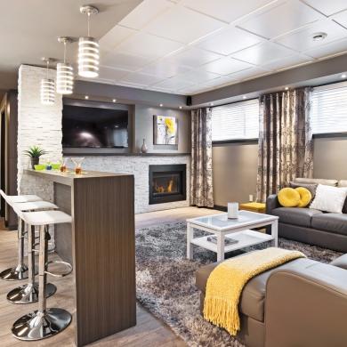 un sous sol familial et convivial sous sol. Black Bedroom Furniture Sets. Home Design Ideas