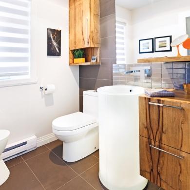Une salle d 39 eau autour du lavabo salle de bain - Difference salle d eau salle de bain ...