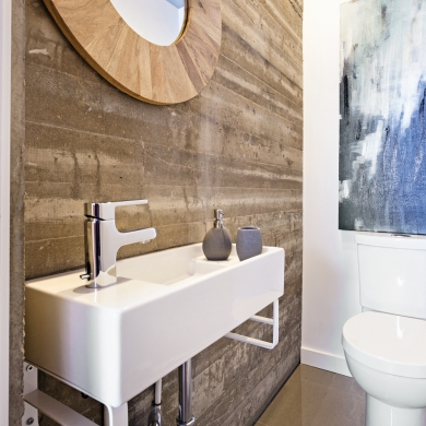 Relooking r ussi une salle d 39 eau b ton salle de bain for Decoration salle d eau