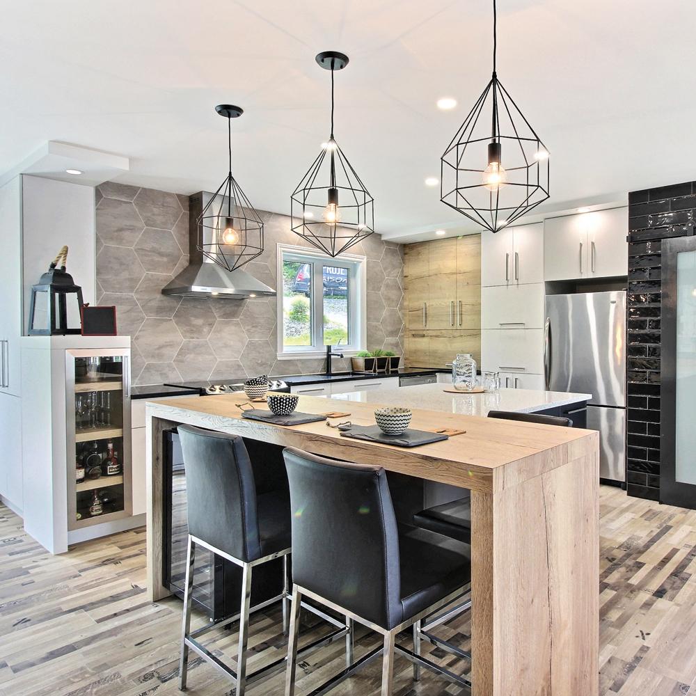fabuleux esprit de chalet dans la cuisine cuisine. Black Bedroom Furniture Sets. Home Design Ideas