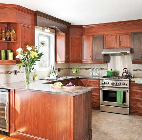 Armoires de cuisine pentures de portes d 39 armoires de - Peindre des armoires en bois ...