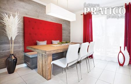 Banquette design dans une cuisine au look lounge salle - Banquette salle a manger ...