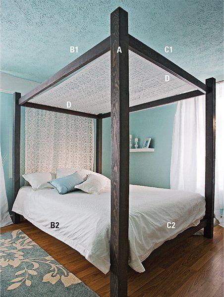 Fabriquer un lit baldaquin en tapes d coration et r novation pratico - Plan pour fabriquer un lit ...
