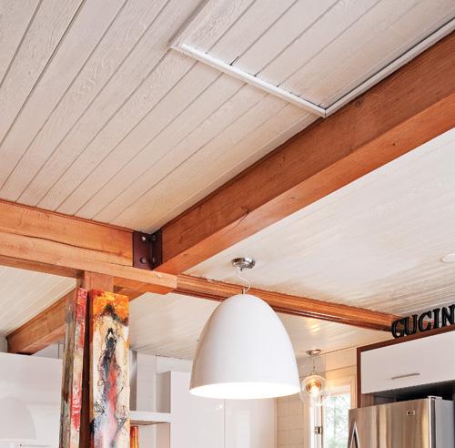 Cuisine au look campagnard industriel cuisine - Faux plafond industriel ...