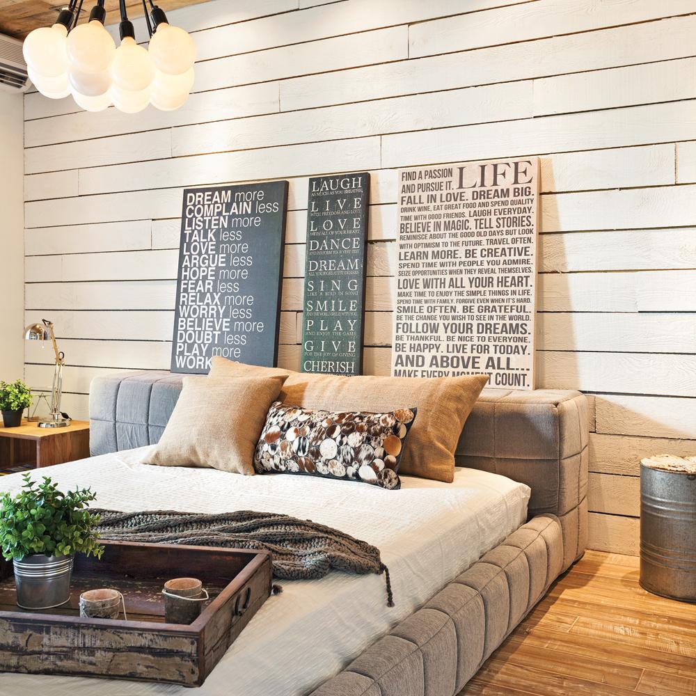 Chambre au cachet rustique chambre inspirations for Chambre rustique