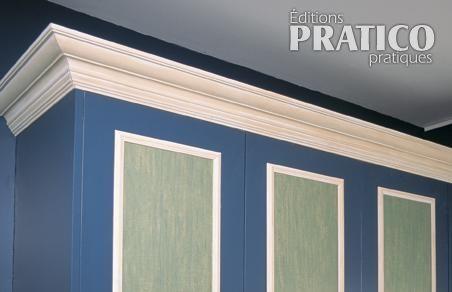 Ajouter une corniche sur le haut des armoires en tapes for Moulure armoire cuisine