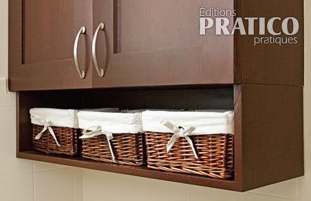 Ajouter une niche sous une armoire en tapes for Armoire dessus toilette