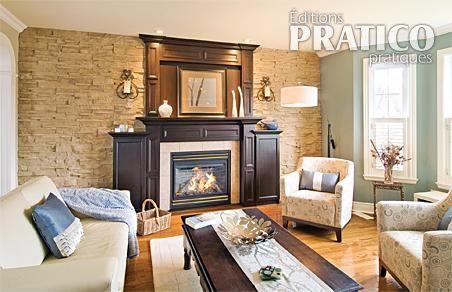 L 39 l gance d 39 un chaud manteau de chemin e salon avant for Decoration foyer salon