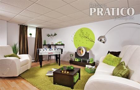 Cr er une salle familiale au sous sol sous sol avant apr s d coration e - Renovation sous sol idee ...