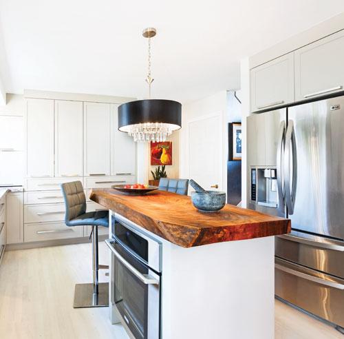 Chaleur moderne dans la cuisine cuisine avant apr s d coration et r nov - Cuisine moderne dans l ancien ...