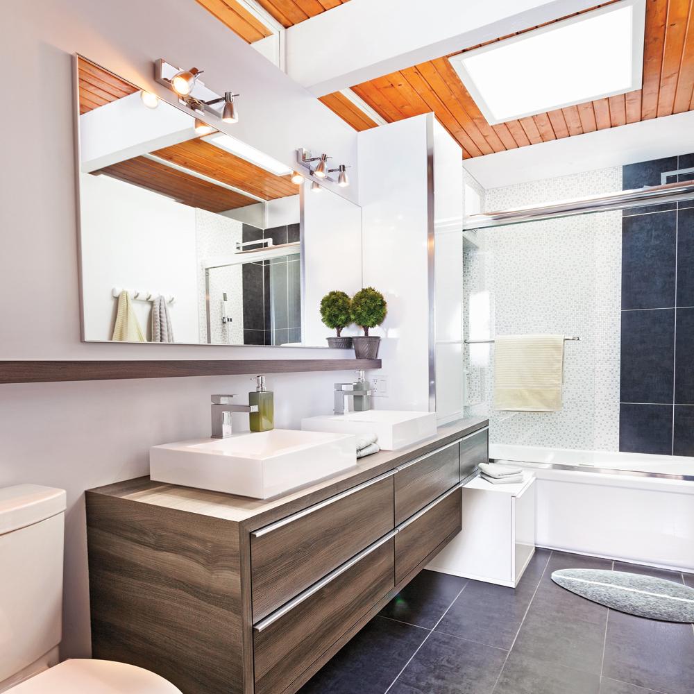Chaleur rayonnante dans la salle de bain   salle de bain   avant ...