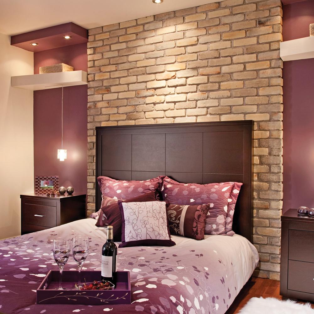 Chaleureuse brique pour la chambre du sous sol chambre for Chambre au sous sol