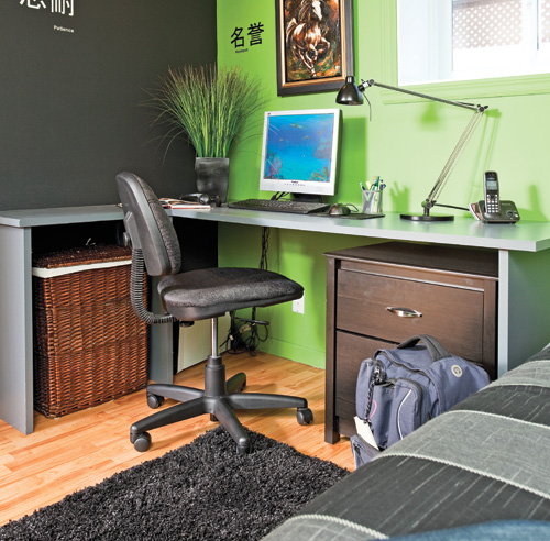 chambre avec un coin devoirs zen chambre inspirations d coration et r novation pratico. Black Bedroom Furniture Sets. Home Design Ideas