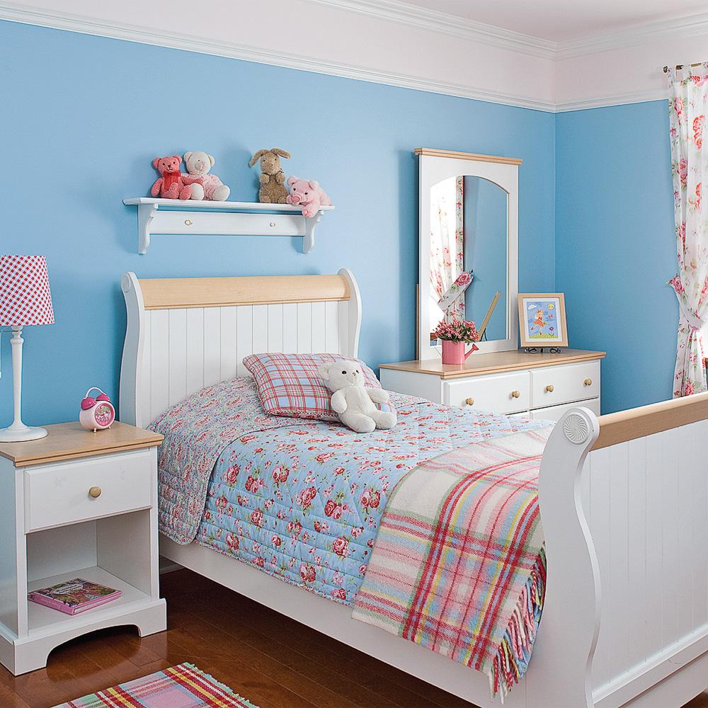 Chambre de fillette au look classique chambre inspirations d coration e - Deco chambre fillette ...