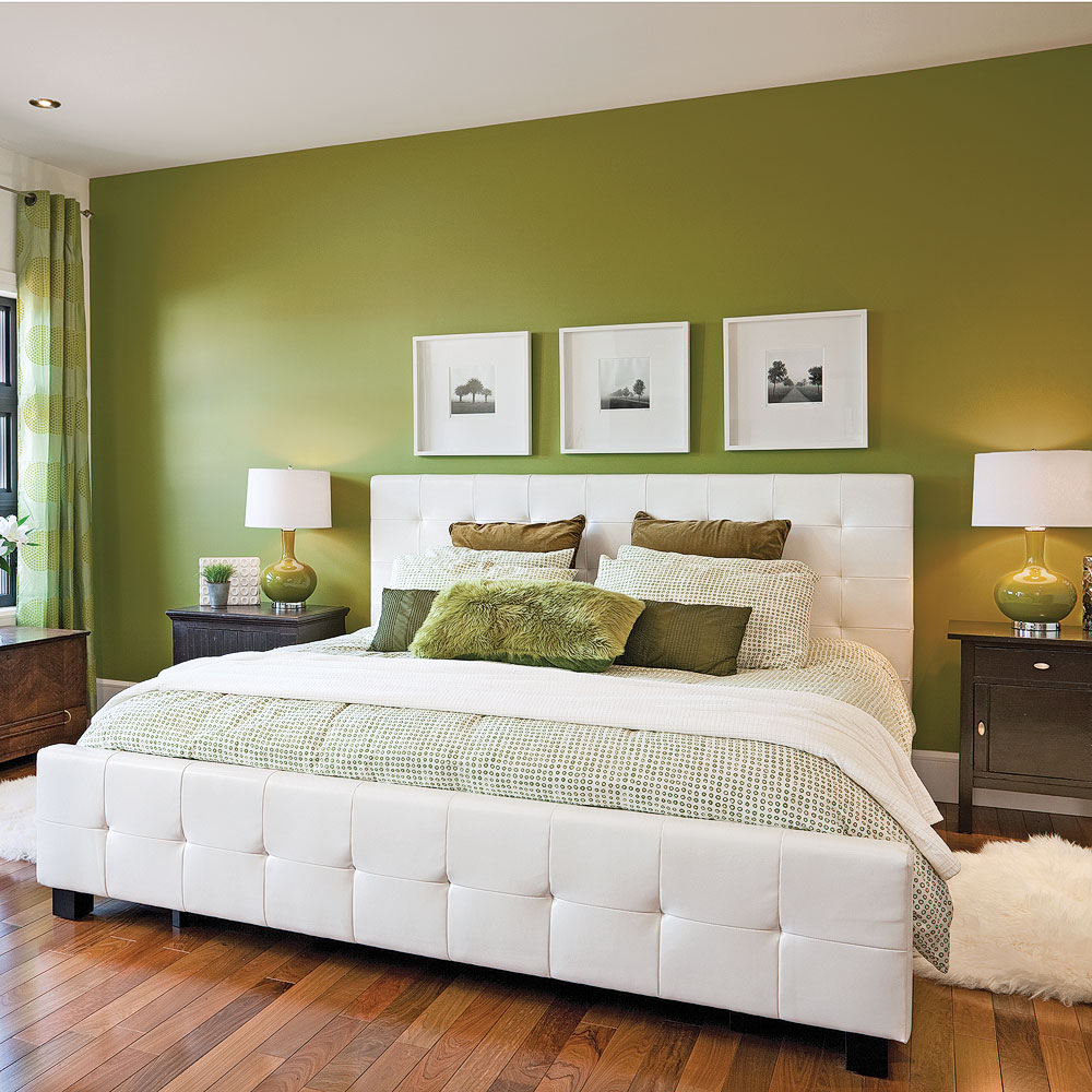 chambre en vert et blanc chambre inspirations d coration et r novation pratico pratique. Black Bedroom Furniture Sets. Home Design Ideas